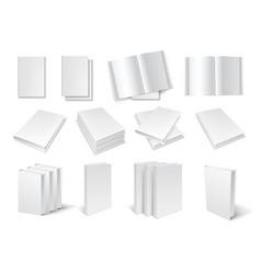 Blank book templates set vector image