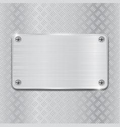 metal brushed plate on non slip metallic surface vector image