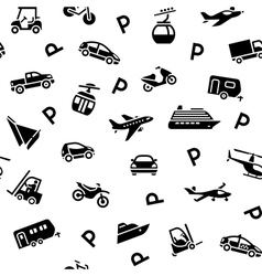 Seamless backdrop transport icons wrapping paper vector image