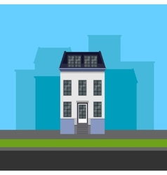 townhouse in flat polygonal style vector image