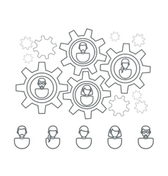 User profile line icons vector image vector image