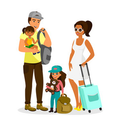 young happy family with vector image vector image