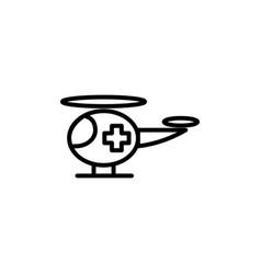 ambulance helicopter icon on white background vector image