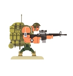 Character military peacekeeper vector image vector image