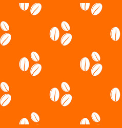 Coffee beans pattern seamless vector