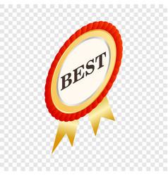 round label best isometric icon vector image