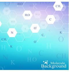 scientific hexagonal chemistry pattern structure vector image