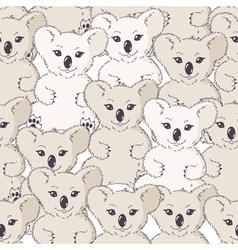 Seamless pattern with koalas vector image