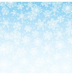 winter sky with snowflakes vector image vector image