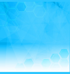 Abstract background with low poly and hexagon vector
