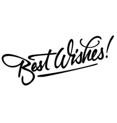 best wishes hand lettering vector image