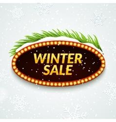 Big sale winter sale sign design template xmas vector