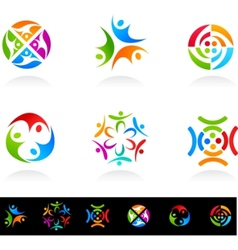 collection of social media vector image vector image