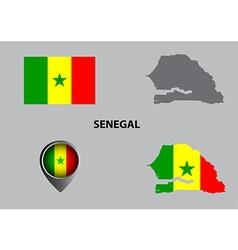 Map of Senegal and symbol vector image