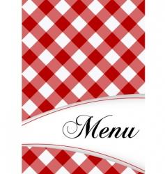 menu card design vector image