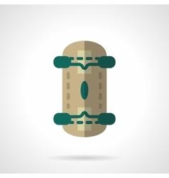 Skateboard flat color design icon vector image
