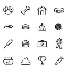 thin line icons - pet vector image vector image