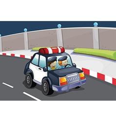A police car vector