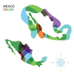 Abstract color map mexico vector