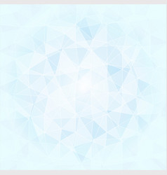Abstract poligonal background in blue and white vector