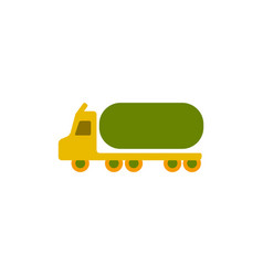 Big car in flat style tank vector