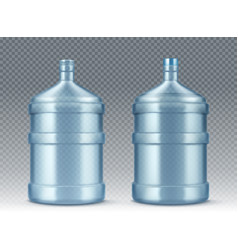 big empty bottle for water cooler realistic vector image
