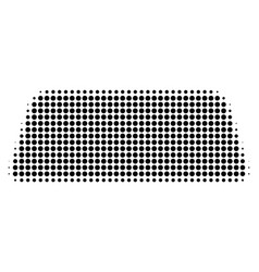 Black dotted treasure brick icon vector