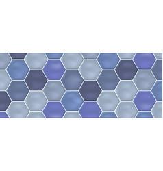 blue hexagon mosaic ceramic tiles vector image