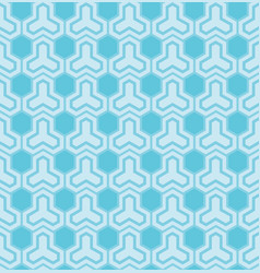 blue pattern with hexagons vector image