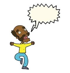 Cartoon old man having a fright with speech bubble vector