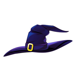 Cartoon witch hat isolated vector