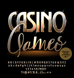 Chic sparkling logo casino games vector