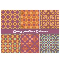 collection of bright abstract patterns vector image