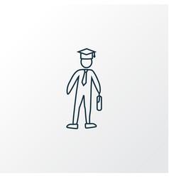college icon line symbol premium quality isolated vector image