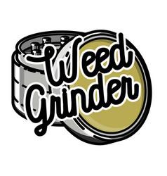 color vintage marijuana emblem vector image