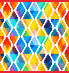 Colored mosaic seamless pattern with triangle vector