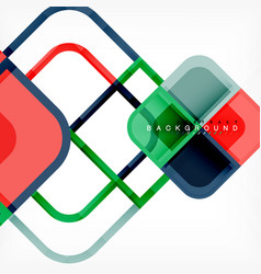 colorful round squares modern geometric background vector image