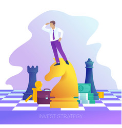 Concept successful business strategy vector