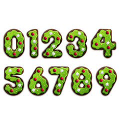 Cookie stylized numbers vector