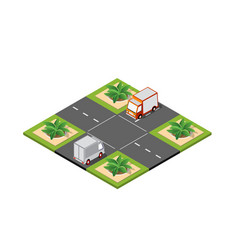 crossroad road isometric vector image
