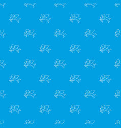 cupid pattern seamless blue vector image