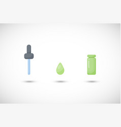 dropper flat icon set vector image