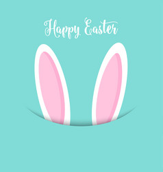 easter bunny ears background vector image