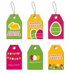 easter tags vector image