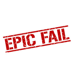 Epic fail stamp vector