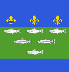Flag of loches in indre-et-loire of centre-val de vector
