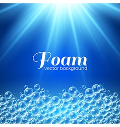 Foam Background vector image