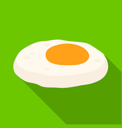 Fried eggs with yolkburgers and ingredients vector