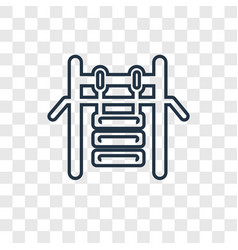 Gym concept linear icon isolated on transparent vector