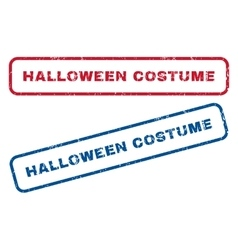 Halloween Costume Rubber Stamps vector